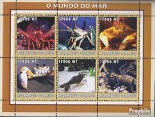 Mosambik 2578-2583 Velletje postfris MNH 2002 Wereld van Marine
