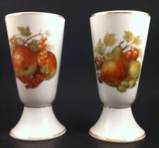 Pair Of Limoges Flutes Pear And Grapes