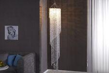 Lámpara de araña cascada 180 cm estras vidrio acrílico transparente techo