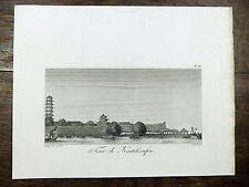 J. De Guignes GRAVURE Tour de Kantcheoufou CHINE 1808 China ARCHITECTURE