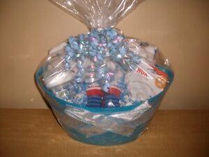 Baby Boy 18 Piece Baby Shower Gift Basket or Centerpiece