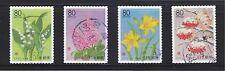 JAPAN 2010 (PREFECTURE) SEASONAL PLANTS & FLOWERS OF HOKKAIDO (REPRINT) 4 STAMPS