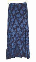Vintage Laura Ashley - 6 (S) - NWOT - Tonal Navy Blue Floral  - Long Full Skirt