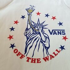 Vans Off The Wall Tank Top Statue Of Liberty Beer Drinking Party Shirt Medium