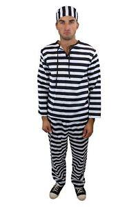 Costume Homme Forçat Prisonnier Voyou Prison L014