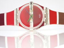 Red Painted time by Stephen Dean-Swatch Gent-gk377-nuovi e mai indossati