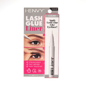 Kiss i Envy Lash Glue Liner & Eyeliner Strong Hold Fast Dry 0.7oz  KLGL02 Clear