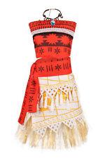 Moana Polynesia Princess Dress Girls Costume Fancy Party Dress Cosplay Necklace