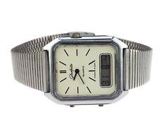 GUB Glashütte Kal 18-01 Chrom Quarz Hybrid Analog Digital Herren Armbanduhr