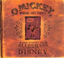 O Mickey Where Art Thou Disney 2003 Bluegrass Country Music CD Various Artists