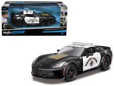 Maisto 2015 Chevy Chevrolet Corvette Z06 Highway Patrol Police Diecast Car 1:24