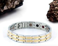 Authentic Pur life Negative Ion Bracelet ELEGANT T STAINLESS STEEL GOLD BALANCE