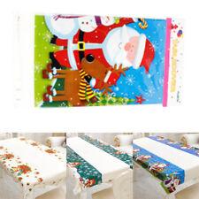 Noël Jetable Nappe Cartoon Imprimée PVC Décor Table Maison Fête Mode 110 * 180cm