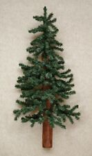 ALPINE HALF WALL / DOOR CHRISTMAS TREE 3 FT ARTIFICAL FLORAL WOOD TRUNK