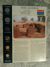 Coins from Around the World Gambia UNC Dalasi, 1,5,10,25,50 Bututs 1998