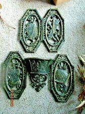 4 Spanish Gothic Medieval Wall Decor Plaque Armor Homco & Pocket Planter