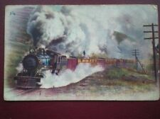 POSTCARD FREIGHT TRAIN ON THE UNION PACIFIC RAILROAD