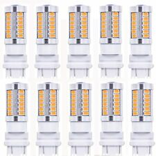 10x Amber 3157 LED 33SMD Bulb Decoder Anti Flicker Load Resistor Turn Signal Bul