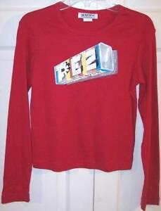 NWT Self Esteem Vintage Girl's LS Red Pez Candy T-Shirt, XL