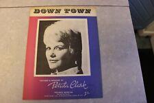SHEET MUSIC  PETULA CLARK  DOWN TOWN
