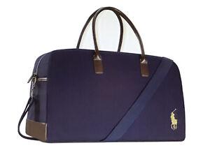 Ralph Lauren Polo Fragrances Blue Duffle Weekender Carry On Travel Gym Bag New