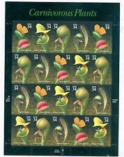 US 3531 Carnivorus plants 34c full pane Sheet of 20 stamps MNH yr. 2000 NIP.