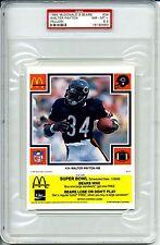 1985 MCDONALDS YELLOW WALTER PAYTON PSA 8.5 POP 1  HOF Chicago Bears