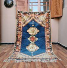 "Moroccan Vintage Handmade rug Bohemian Berber Rug 3'6""x5'9 Taznakht Tribe Carpet"