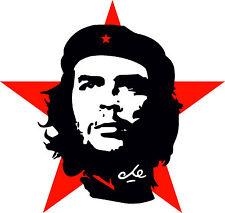 8x8 cm Autoaufkleber Che Guevara roter Stern Kuba Revolution Aufkleber Sticker
