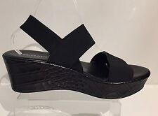 NR RAPISARDI FIRENZE Italy Wedge Sandals Croc Pattern Elastic Straps 40 US 9.5