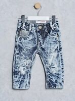 MINOTI DISTRESSED / WASHED EFFECT JEANS *SLIM FIT* *SIZES 6-12mths to 2-3 Years*