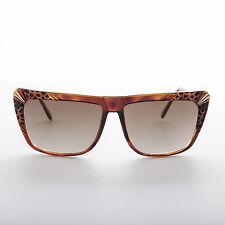 Hip Hop Flat Top Style Vintage Sunglasses Brown Tortoiseshell -Kayah