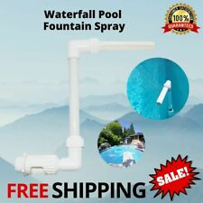 Waterfall Swimming Pool Fountain Spray For Above Ground or In Ground Water Spray