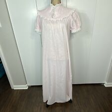 Vintage Lanz of Salzburg nightgown S/M Pink Lace S Sleeve modest prairie style