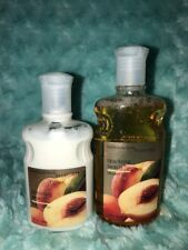 HARD TO FIND Lot of 2 Bath and Body Works Sparkling Peach body wash and lotion