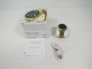 Michael Kors Access Lexington 2 44mm Case Gold-Tone Stainless Steel with...