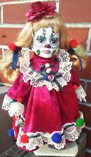 stitches evil clown zombie dead reborn custom baby doll ooak repaint horror