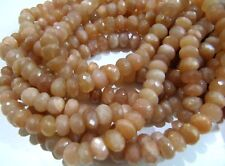 Pack of 20 Beads- High Quality Natural Faceted Round Sunstone Beads , 5-8mm Size