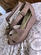 New Look Wedge Heels Women's Faux Suede Sandals