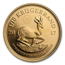 2017 South Africa 1/10 oz Proof Gold Krugerrand - SKU #114873