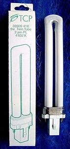 TCP 9W (40W Equal) 4100K 2 Pin Cool White Twin Tube PL CFL Light Bulb 3200941K
