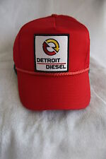 DETROIT DIESEL TRUCKER HAT, WITH PATCH  ( ADJUSTABLE Sizing,COLOR RED