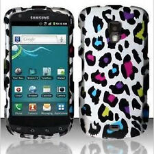 Samsung Galaxy S Aviator R930 Rubberized HARD Case Phone Cover Rainbow Leopard