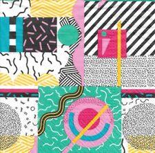 Lote de 4 Toallas papel Decoración Memphis para Recorte Collage de Decopatch
