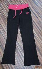 Nuevo con etiquetas tamaño 12 Negro/Rosa Jogging Pantalones Everlast