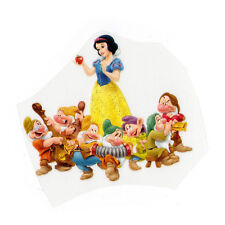 PRINCESS Snow White 7Dwarfs Disney Glitter PVC VINYL Iron On Patch Girls T-Shirt