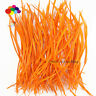 Goose Feathers 20-25cm 8-10 inch Carefully Crafted Smooth Dyed Orange Biots Juju
