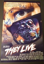 "THEY LIVE Authentic Signed (x6) ""RIP Rowdy Roddy Piper""11x17 Photo (EXACT PROOF)"