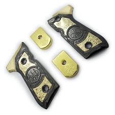 Combo Custom Beretta Grips 92/96 Series Pistols 92F, 92FS, M9, 96 Gold Metal