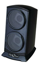 Automatic Double Dual Watch Winder Tower Carbon Fiber Gloss black Diplomat
